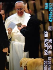 pope and dog