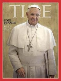 The cover of Time magazine's Person of the Year issue, featuring Pope Francis is pictured in this handout photo