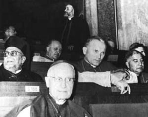 Bishop Karol Wojtyla, the future Pope John Paul II, during the Second Vatican Council.