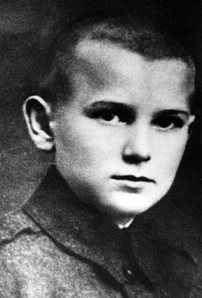 Karol Wojtyla, the future Pope John Paul II, as a young boy.