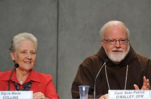 Mrs Marie Collins with Cardinal Sean O'Malley.