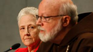 Marie Collins with Cardinal Sean O'Malley of Boston