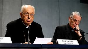 Cardinal Baldisseri (left) with Father Lombardi