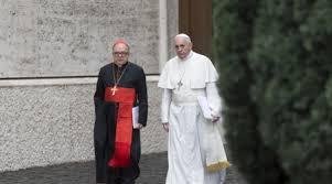 Cardinal Damasceno with Pope Francis