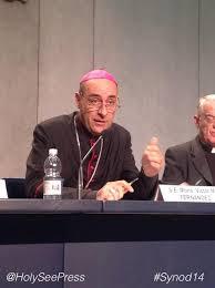 Archbishop Fernández yesterday