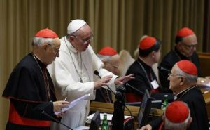 Francis at synod 3