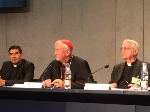 Cardinal Nichols taking a question from Reuters
