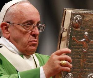 Pope opening Mass