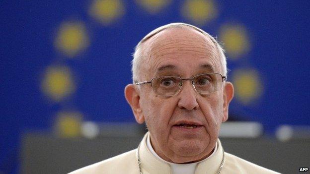 Francis at Strasbourg