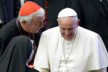 Cardinal Nichols with Pope Francis