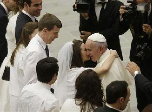 Pope Francis at today's General Audience