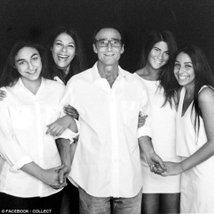 The businessman Jeffrey Spector with his wife and daughters. They urged him not to go to Dignitas. He said it was in their 'best interests'.