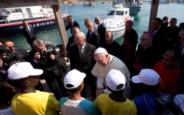 Pope Francis in Lampedusa