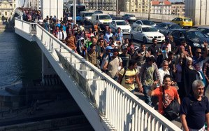 Refugees in Budapest