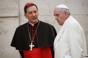 Cardinal Salazar of Bogotá with Pope Francis