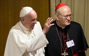 Pope Francis next to Cardinal Erdö