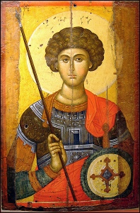 Byzantine icon of St George