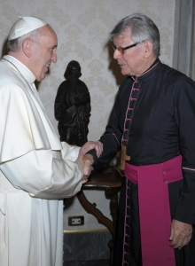 Bishop Erwin Kraütler of Xingú with Pope Francis in 2014
