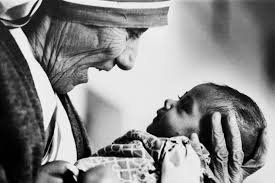Mother Teresa and camera